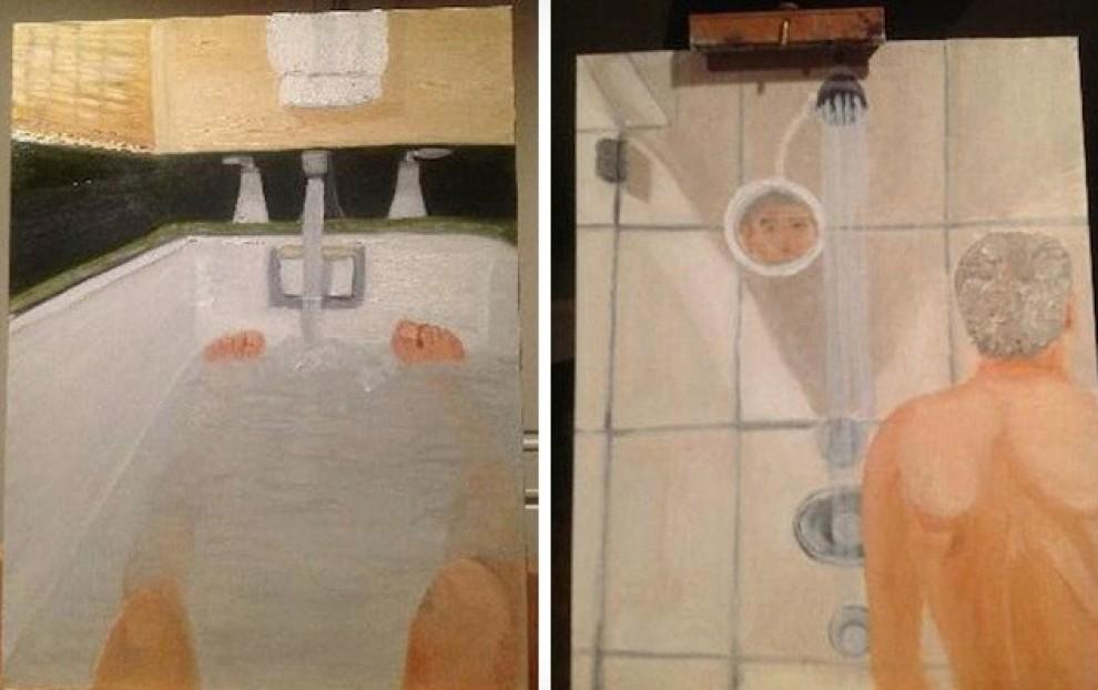Dipinti di bagni di George W. Bush