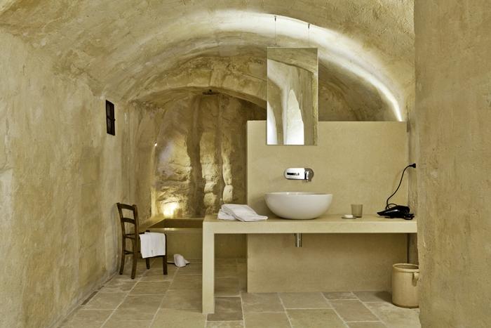 Bagno In Camera Senza Scarico : Le sale da bagno dell hotel corte san pietro a matera