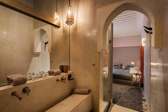 stile marocchino interni e bagno | Riad Living 72 Marrakesh