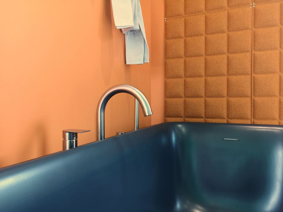 vasca da parete in solid surface Soreha Wall Albatros