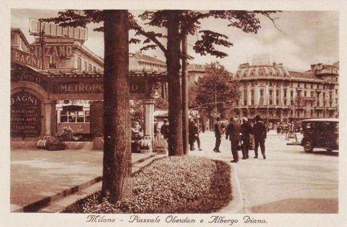 Albergo diurno Porta Venezia Milano - Piazza Oberdan - foto d'epoca