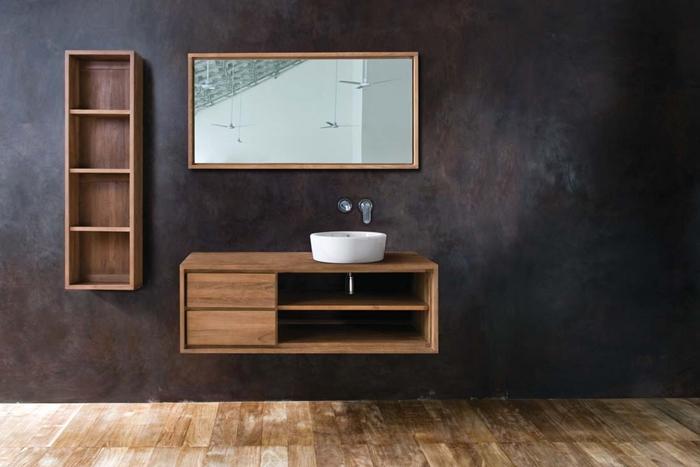 Mobili da bagno in teak, vasche e lavabi in legno di teak