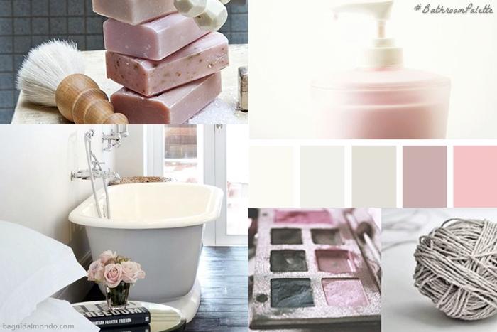 Bathroom Palette grey and pink - Sfumature di colore per il bagno grigio e rosa