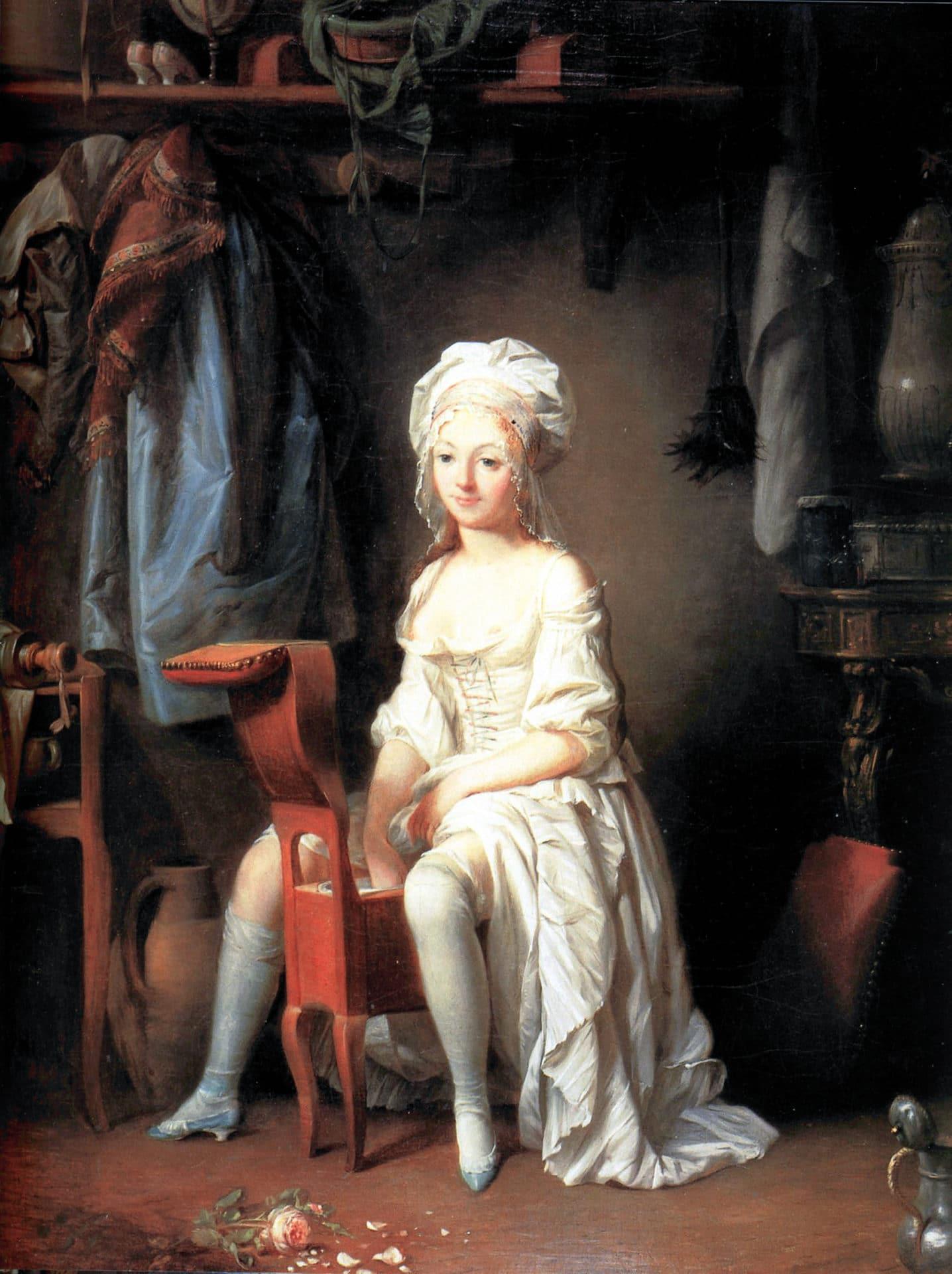 dipinto bidet Madame de Prie