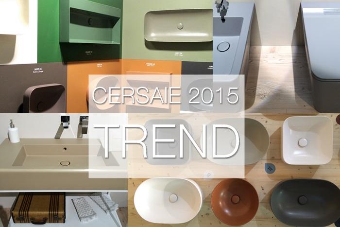 Trend sanitari colorati Cersaie 2015