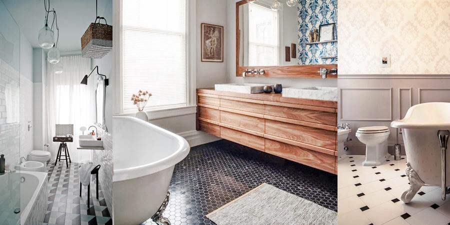 CLASSIC VINTAGE BATHROOM MOOD | Ispirazioni e consigli d'arredo per arredare il bagno in uno stile tra il vintage e il classico.