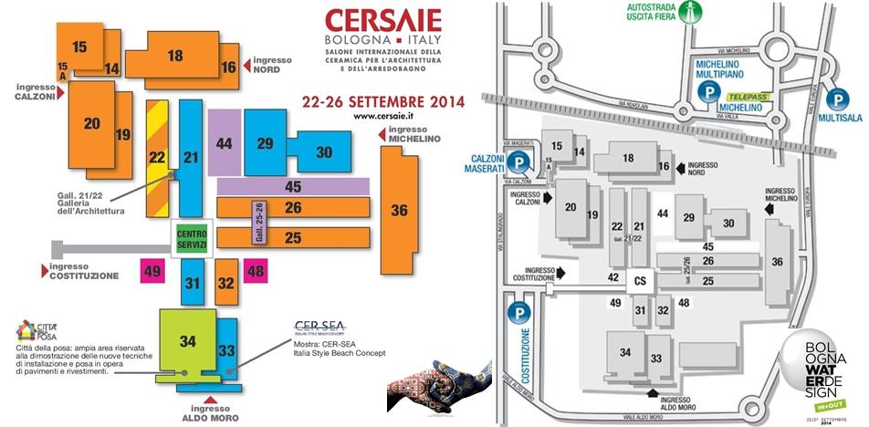 Cersaie 2014 - mappa ed eventi