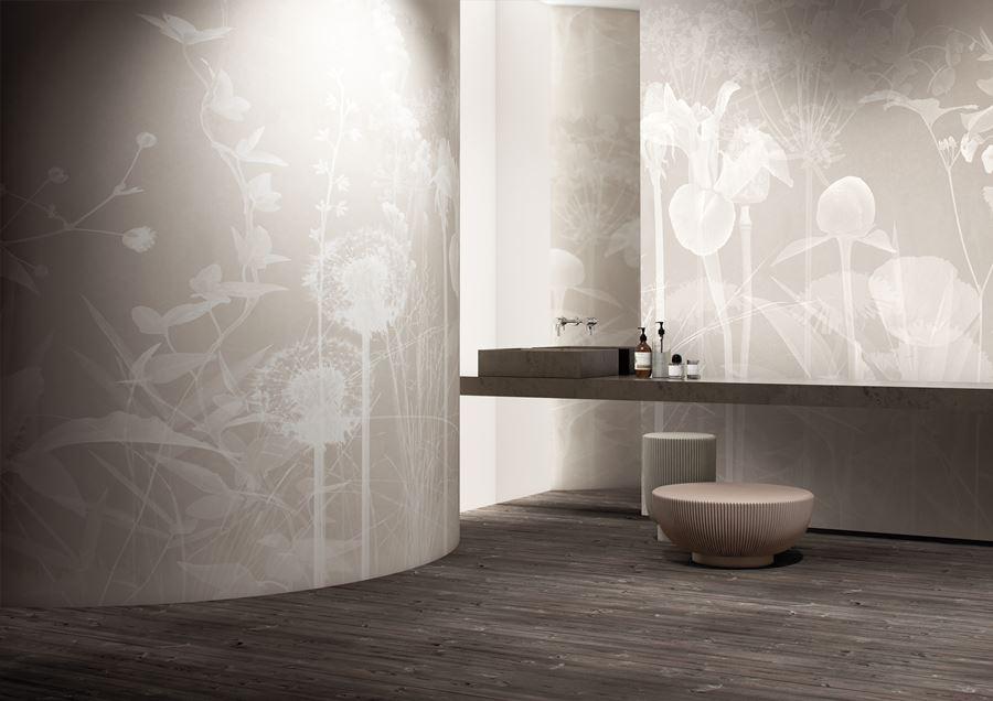 glamfusion by Glamora: carta da parati waterproof per bagno