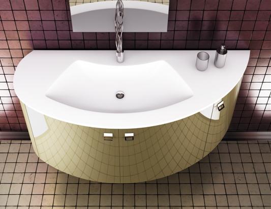 Scegliere il lavabo da incasso semincasso o integrato nel top - Lavandini bagno da incasso ...