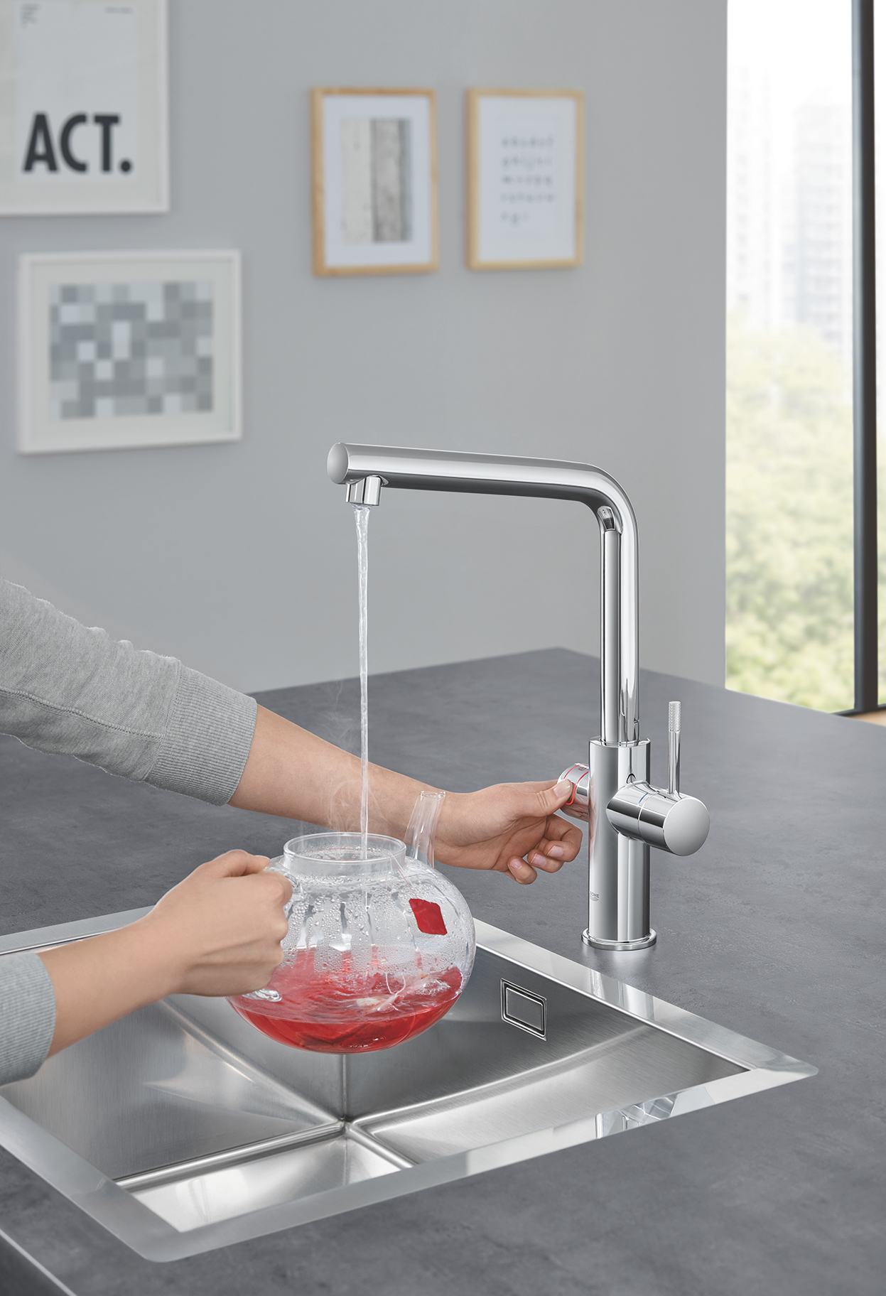 Grohe Red: rubinetto acqua a 100°