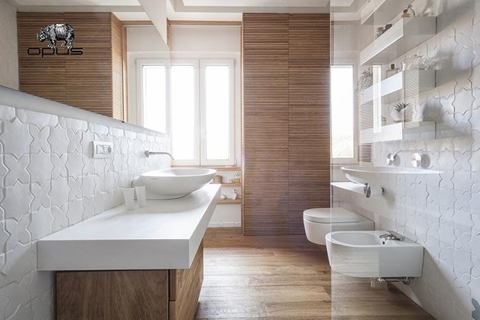 Italian bathrooms #2: un bagno con piastrelle su misura