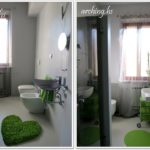 bagno verde - green bathroom
