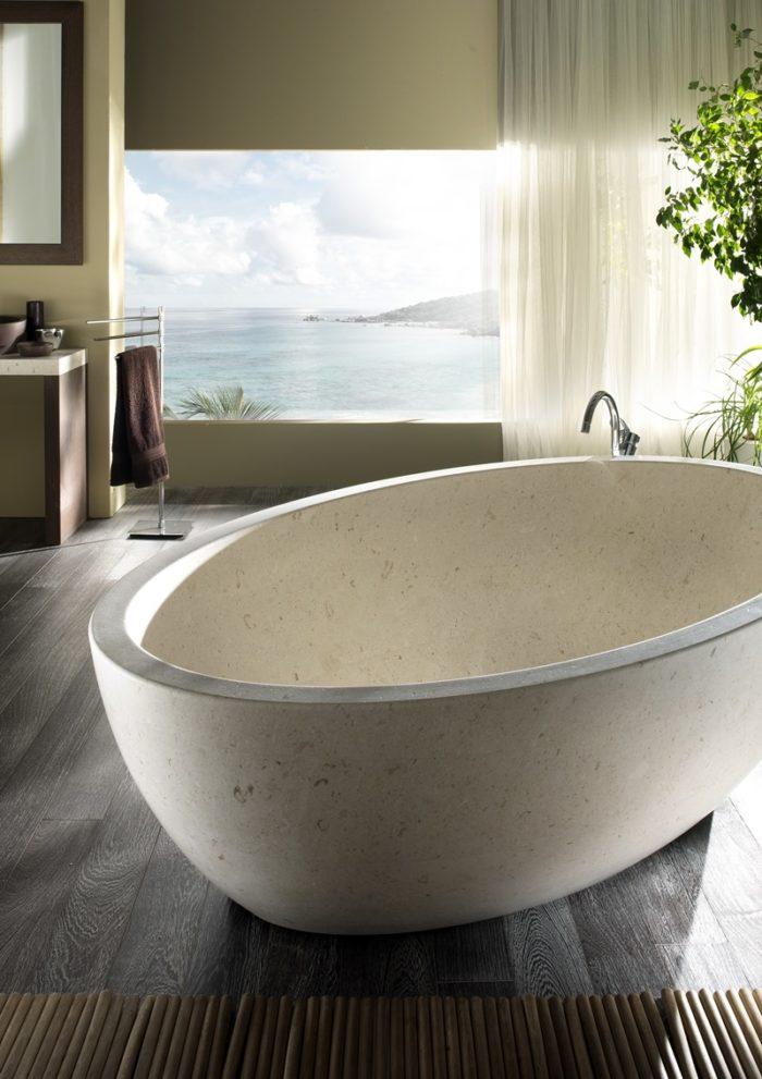 Margraf anticipazioni salone bagno 2018 vasca in marmo