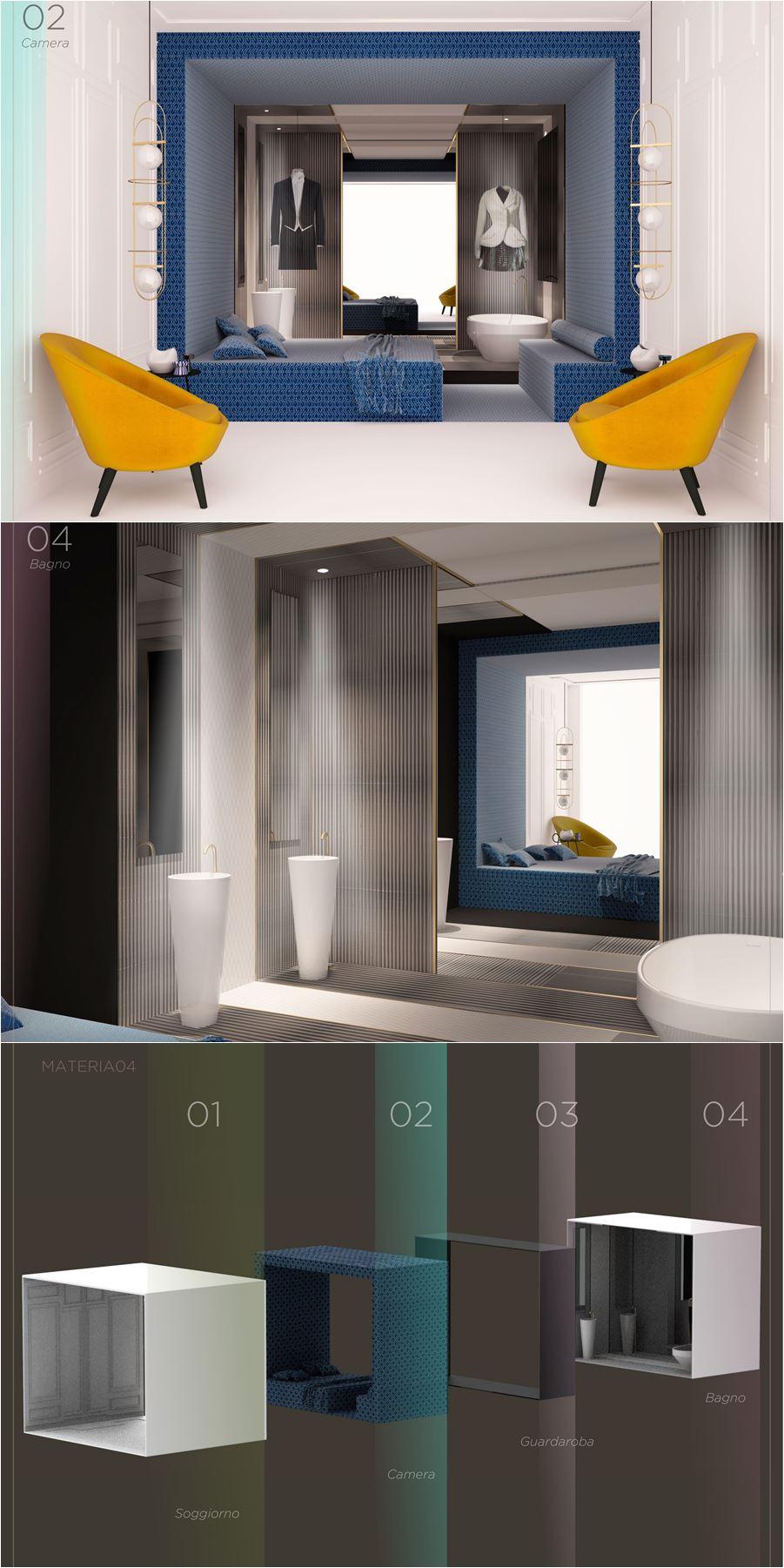 concept camera albergo di design