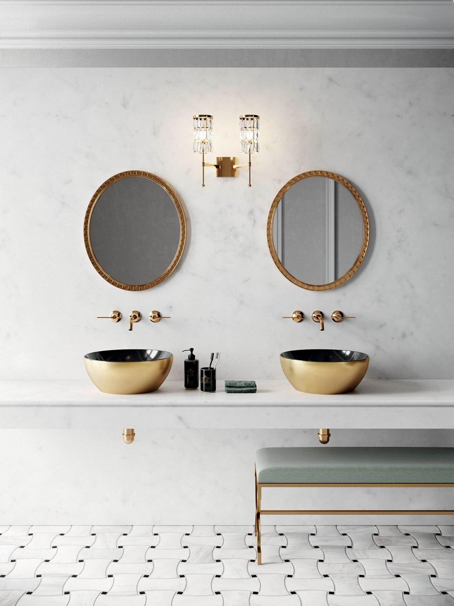 lavabi da appoggio oro e nero