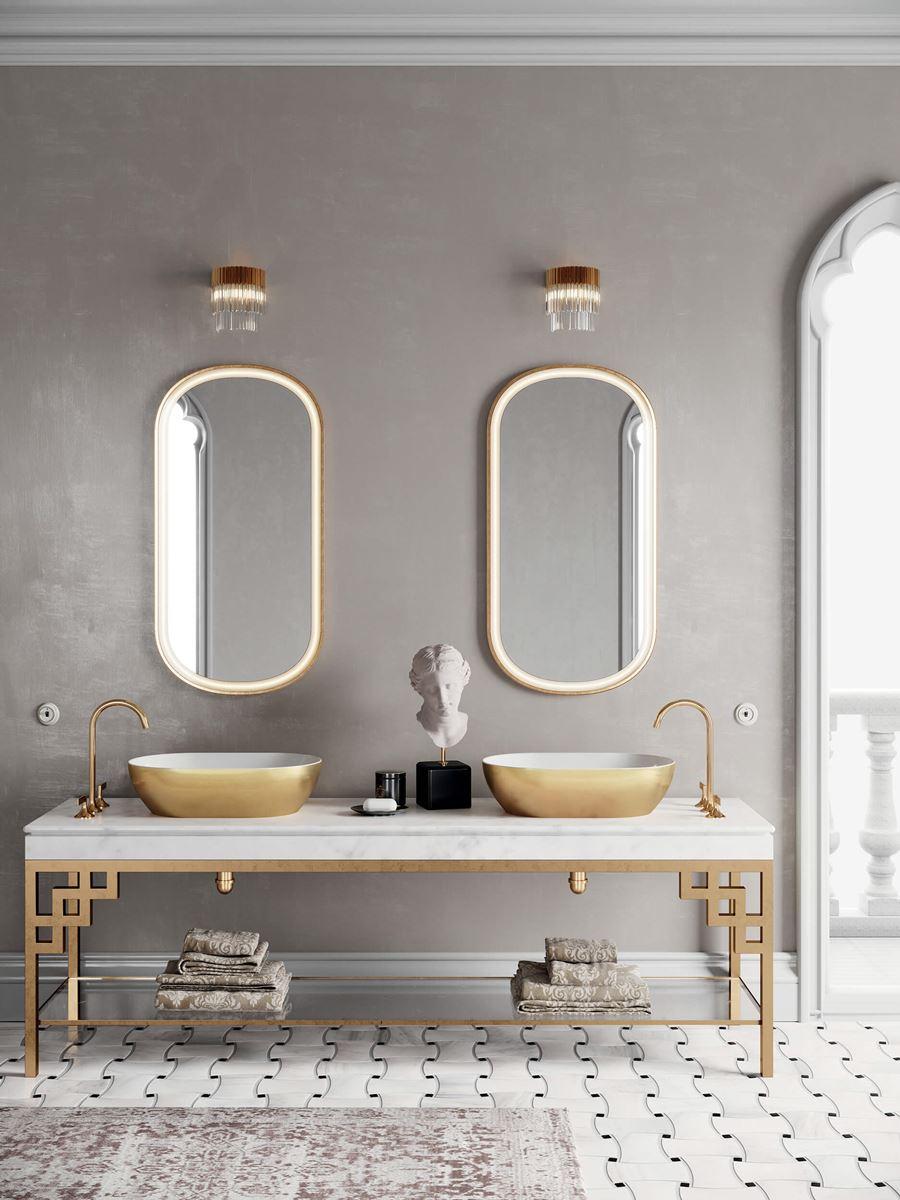 lavabi oro: finitura Gold GSI Ceramica
