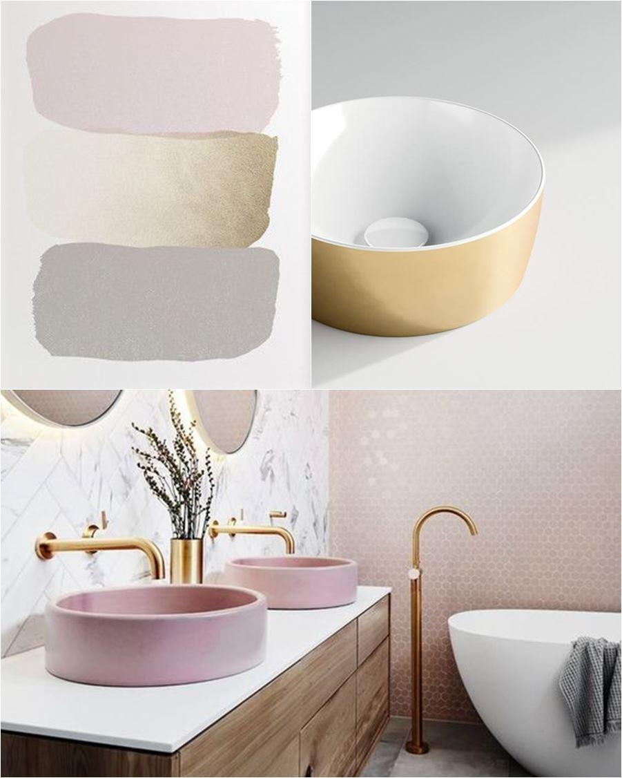 bagno rosa e oro
