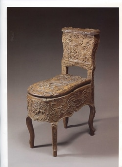 bidet antico in legno