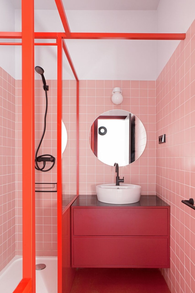 Bathroom palette 10 un bagno romantico ma anche no - Bagno arancione ...