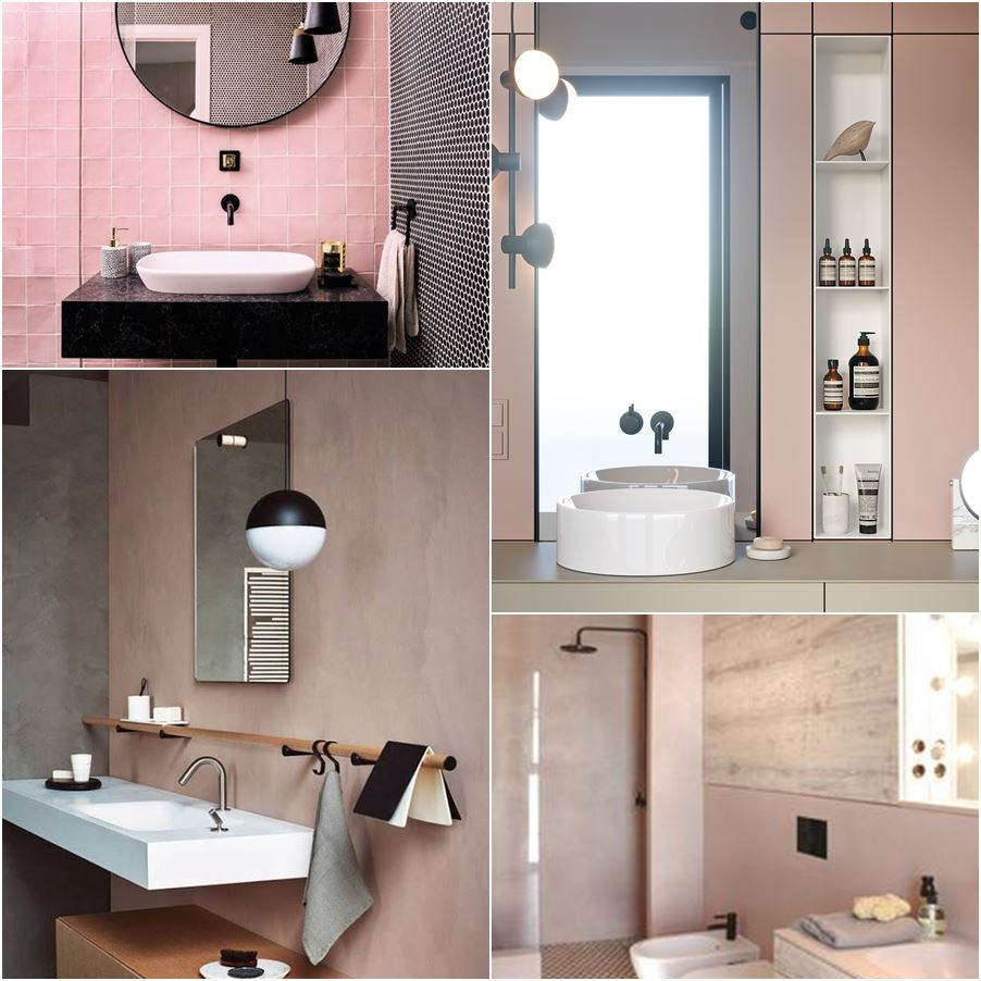 Bagno Rosa E Nero bathroom palette #10: un bagno romantico (ma anche no