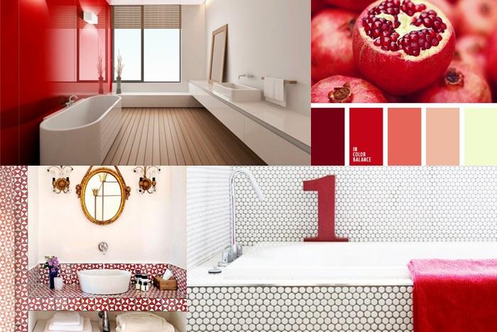 Arredare un bagno rosso: Bathroom Palette Red Passion