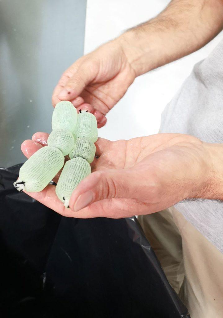 Produzione sanitari ceramica GSI test sullo scarico