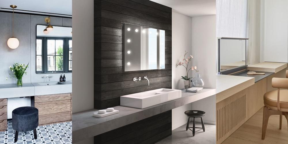 specchio per bagno con luci angolo trucco