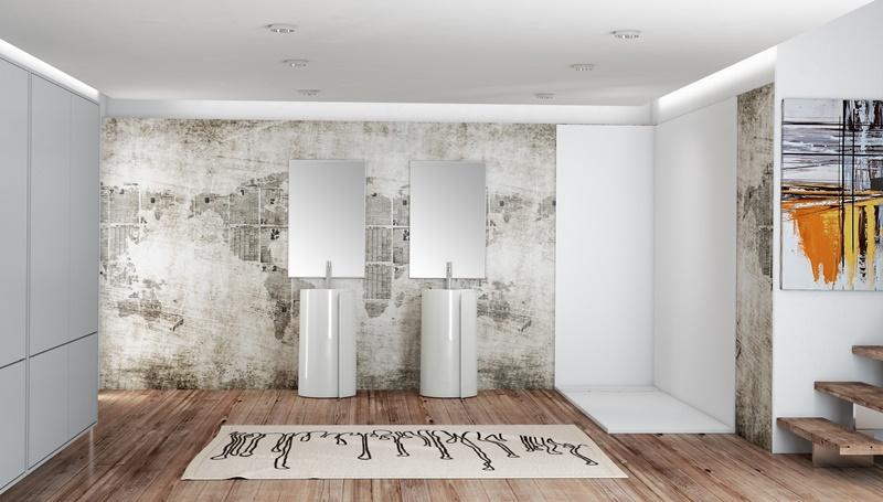 pannelli coordinati per la doccia: Doiserie by Megius