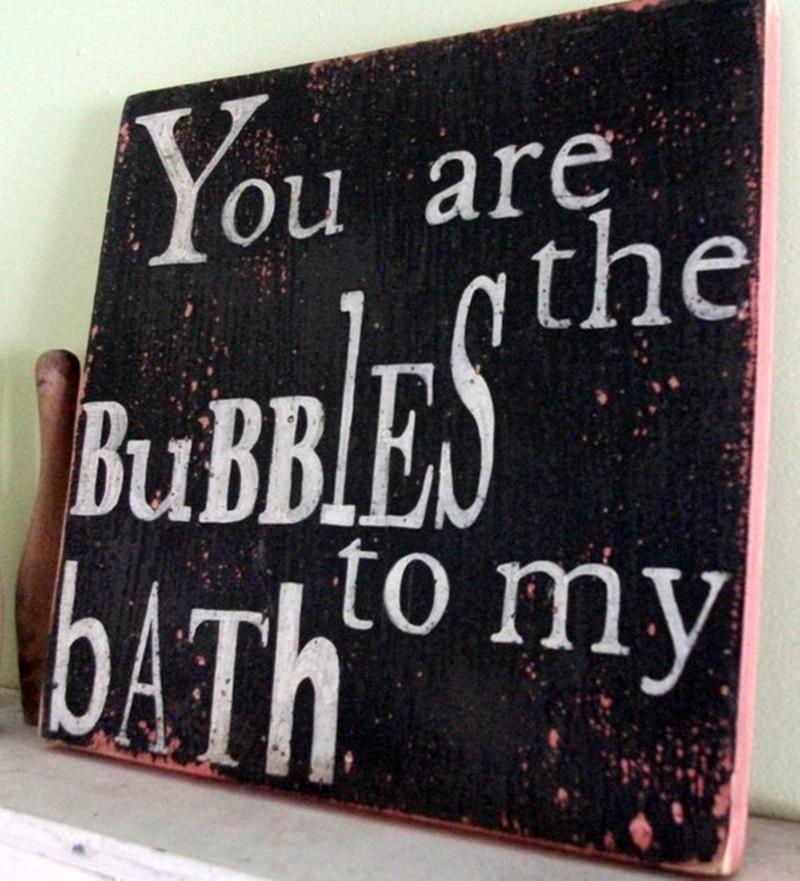 lettere, stickers e frasi per arredare il bagno