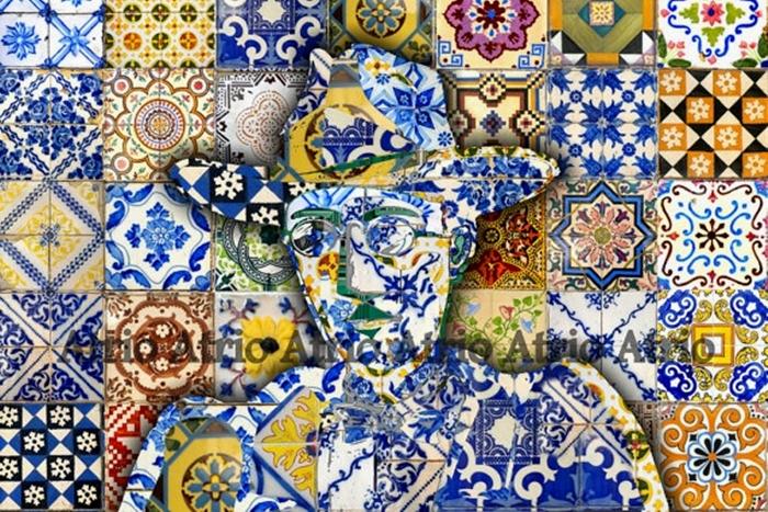 Azulejos piastrelle in stile portoghese