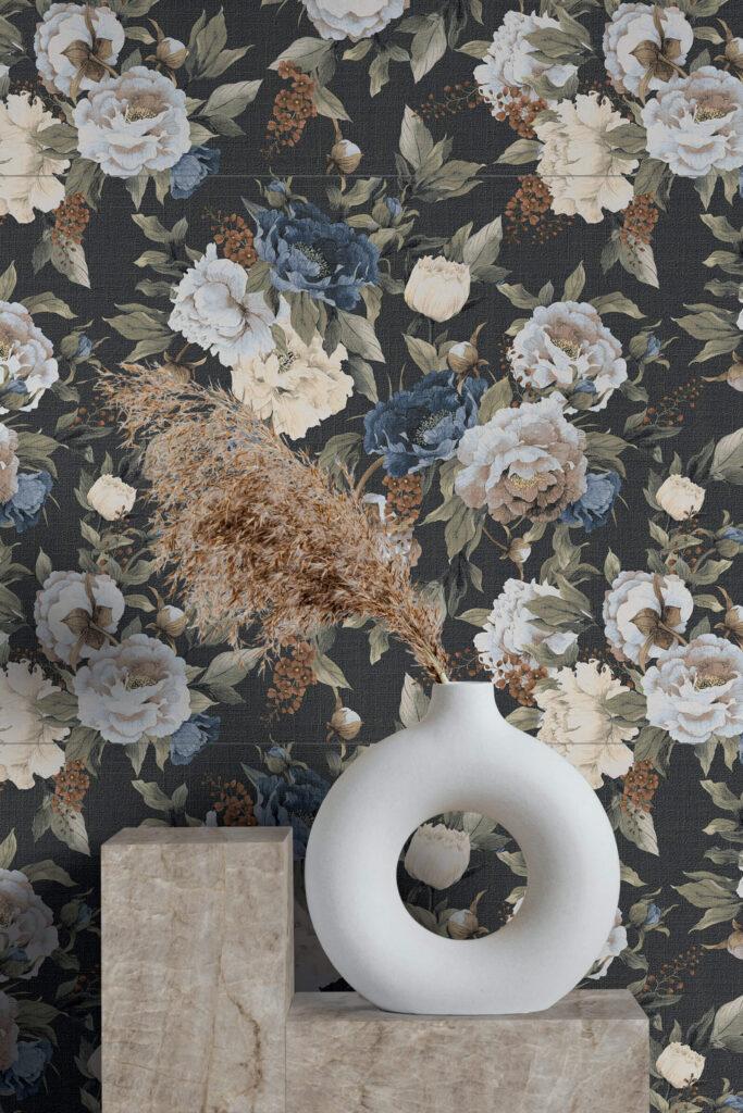 grandi piastrelle con disegni floreali
