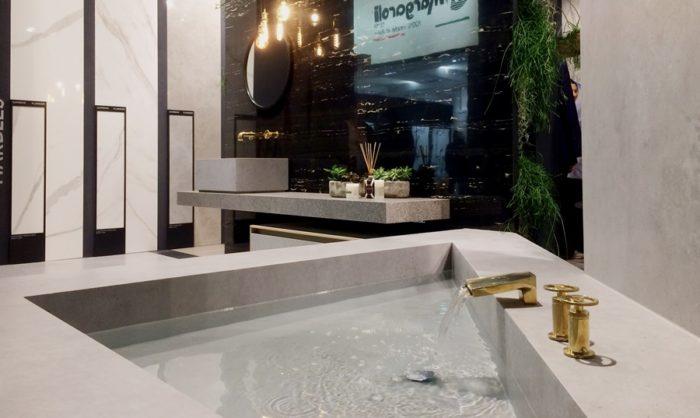 rivestire il bagno con il gres grande formato
