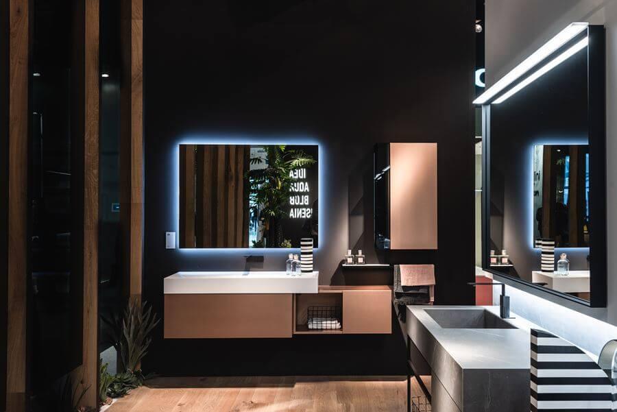 mobile bagno laccato metallizzato