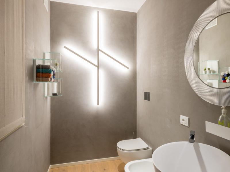 come illuminare il bagno: guida e calcolo illuminotecnico