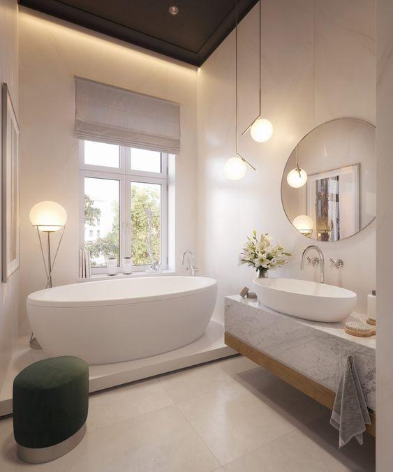 lampade sospese per specchio del bagno