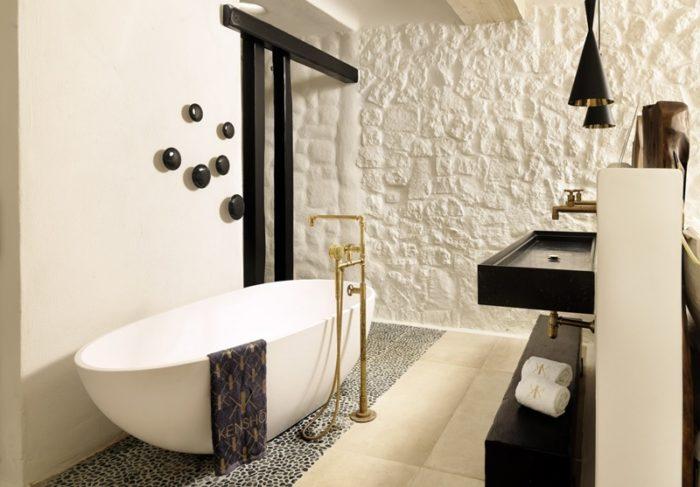 Boutique hotel Mykonos Kensho: interiors and bathrooms