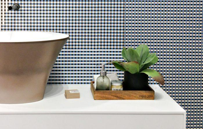 lavabo colorato in corian Planit