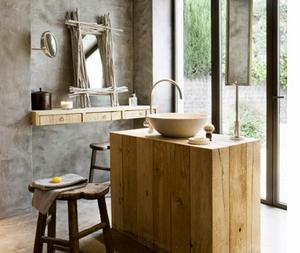 il legno in bagno: idee da copiare