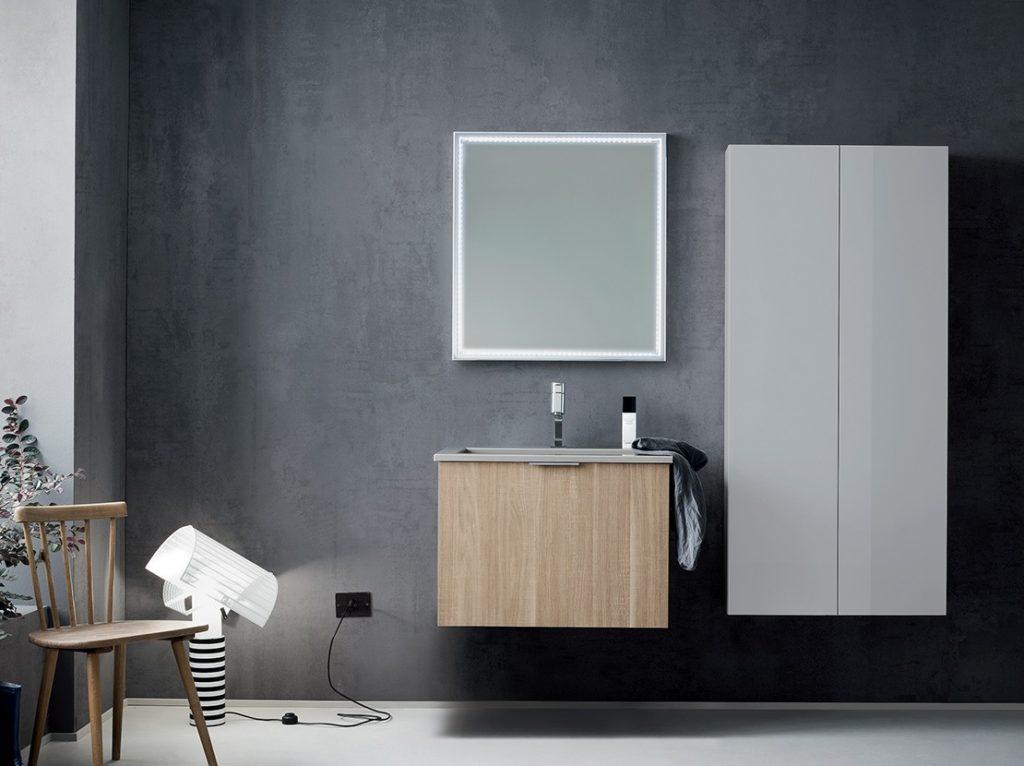 mobili bagno online monoblocco effetto legno