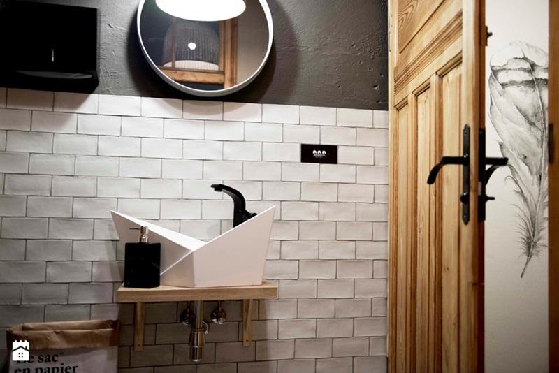 Ptasie Radio bathroom interiors: design by Shoko Design Poland