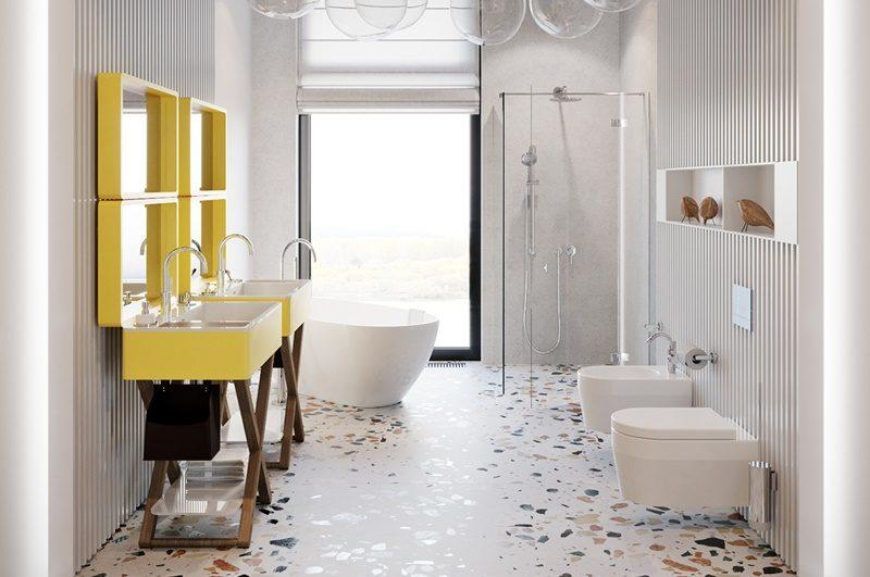 un bagno in terrazzo veneziano