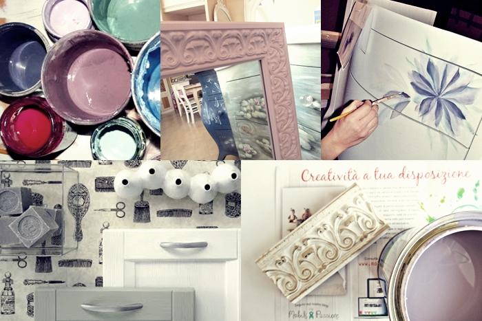 Collage - produzione artigianale mobili da bagno a colori
