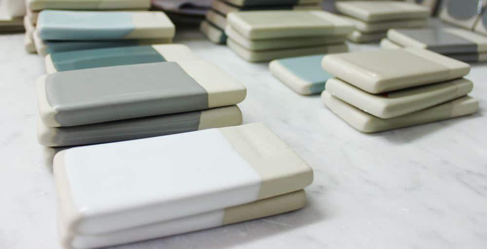 Produzione sanitari ceramica GSI prove colore