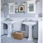 doppio lavabo a colonna