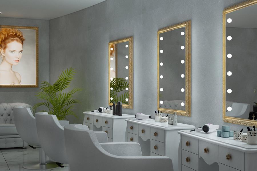 Unica by Cantoni: specchiere con luci con sistema brevettato di illuminazione i-Light