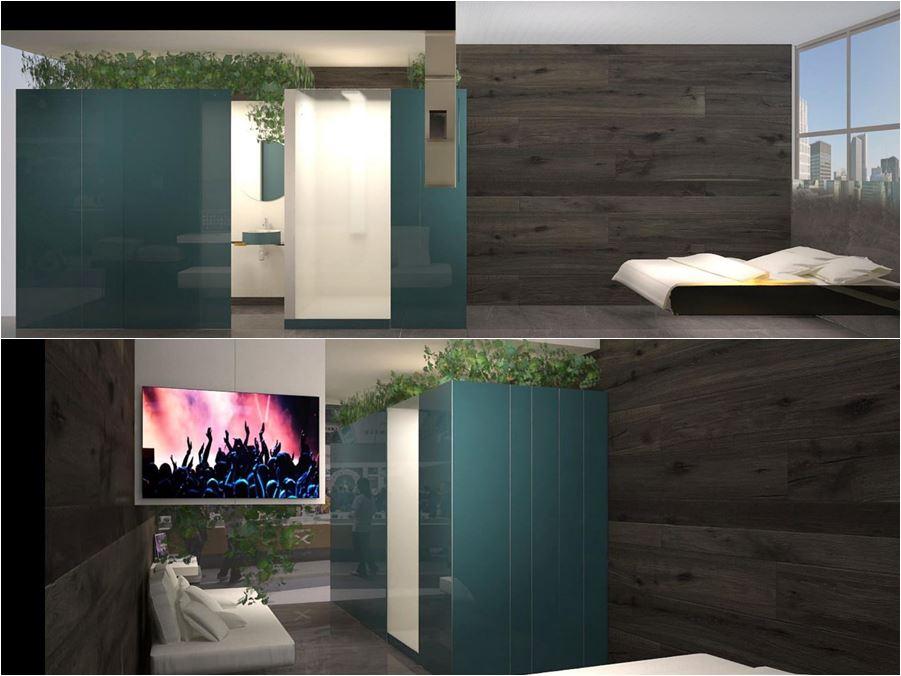 mockup camera hotel di design ! The Bed-Room by Lago Studio