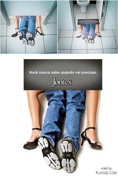 Toilet advertising