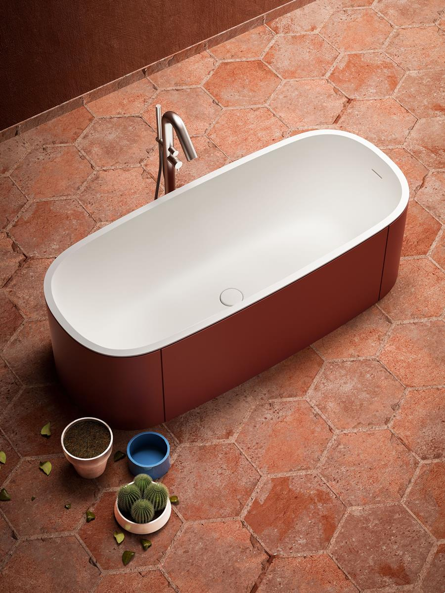 vasche da bagno freestanding di design colorate | Blubleu