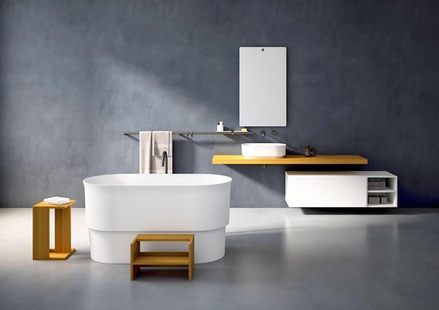 Vasca di design piccola freestanding Immersion by Agape