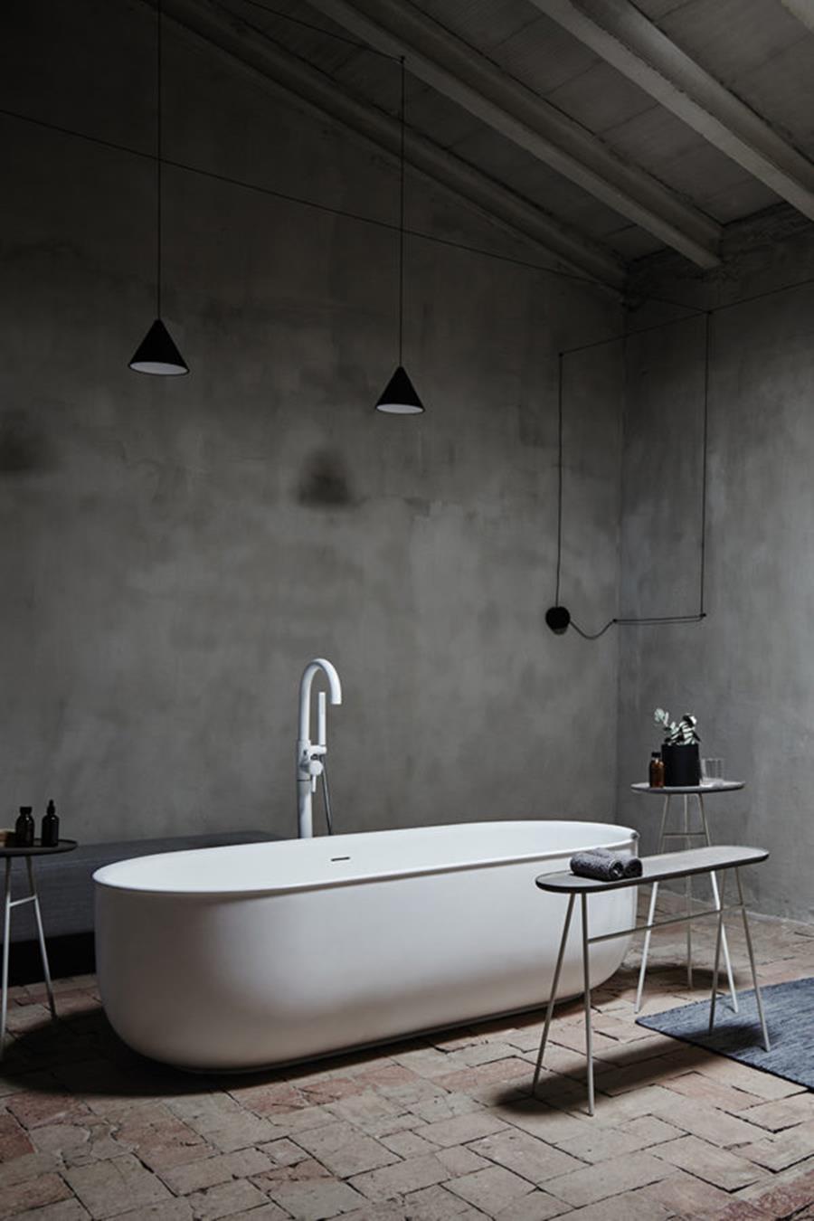 vasca da bagno design centro stanza in Solidsurface: Inbani